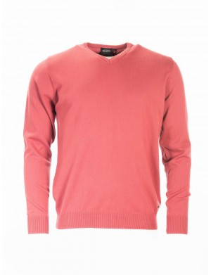 Pull homme rose