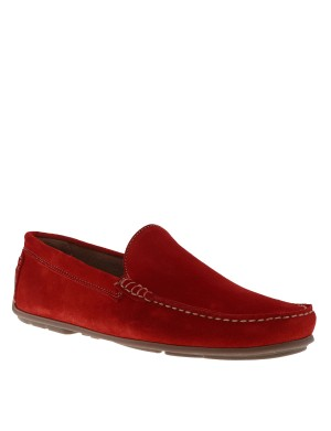 Mocassins homme rouge