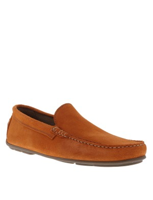 Mocassins homme orange