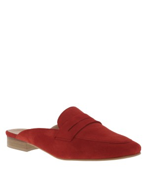 Mules femme rouge