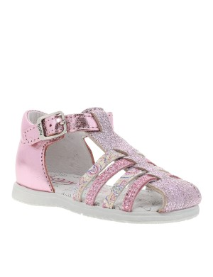 Chaussures nu-pieds Rika fille rose