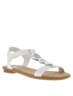 Chaussures nu-pieds femme blanc