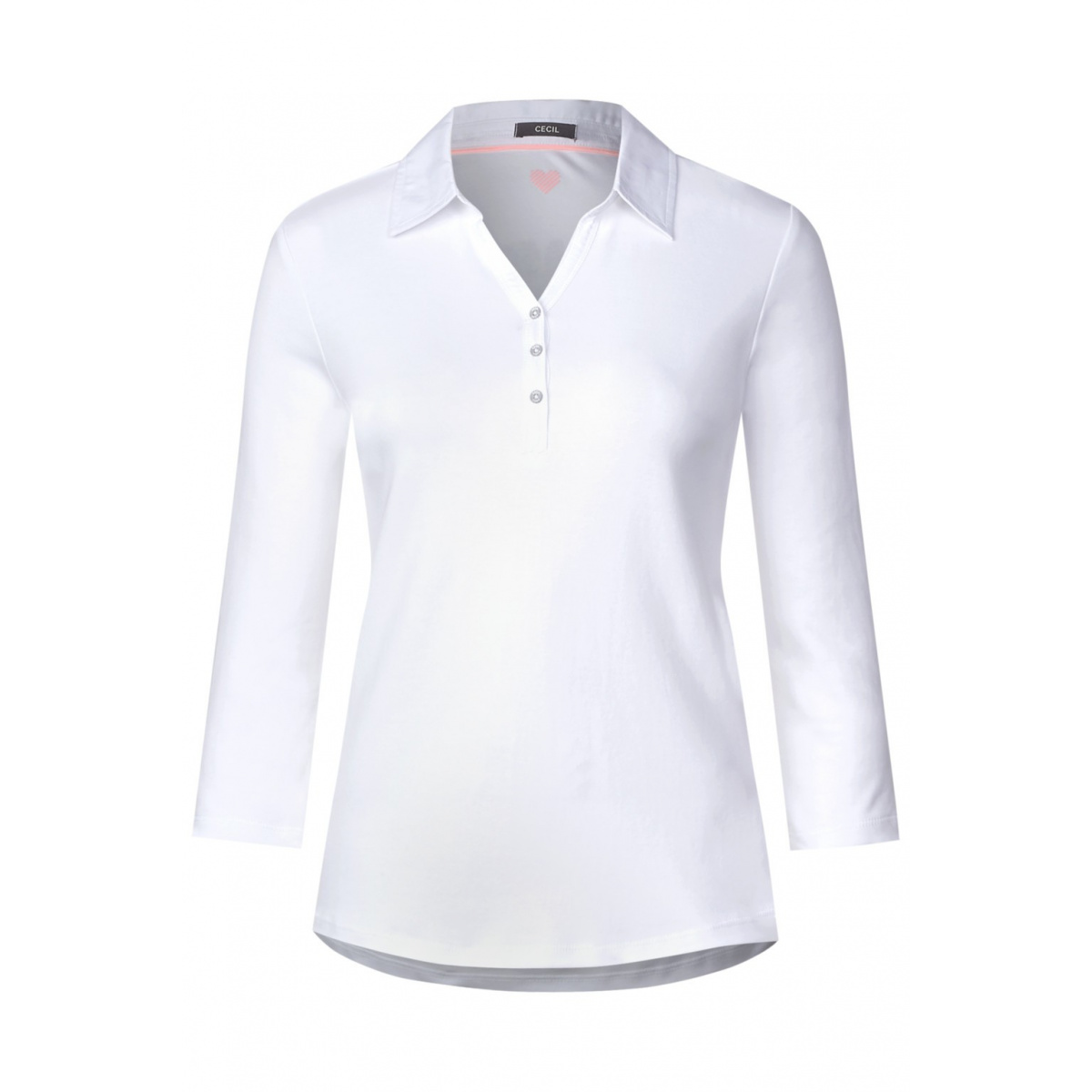75fc61deed Polo manches longues femme blanc Cecil- CCV Mode