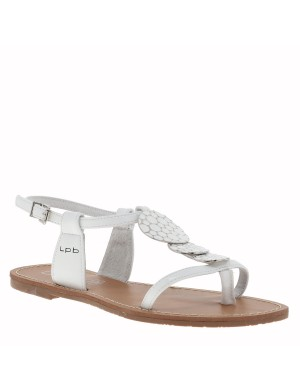 Chaussures nu-pieds Pipa femme blanc