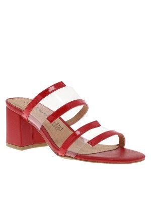 Mules Lupin femme rouge
