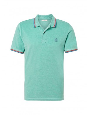 Polo manches courtes homme vert