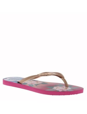 Tongs Tropical femme rouge