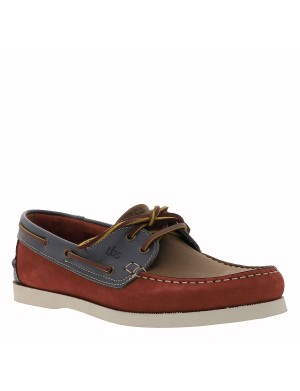Mocassins Phenis homme rouge