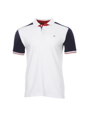 Polo Evans manches courtes homme blanc