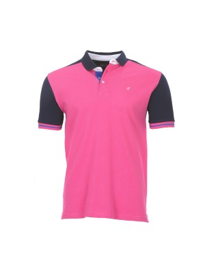 Polo Evans manches courtes homme rose