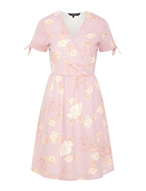 Robe manches courtes femme rose