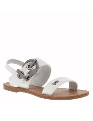 Chaussures J PERVENCHE nu-pieds fille blanc