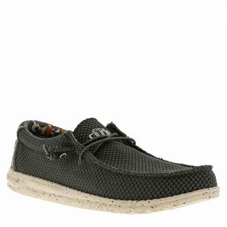 Chaussures Bateau Waly Sox homme vert HEYDUDE