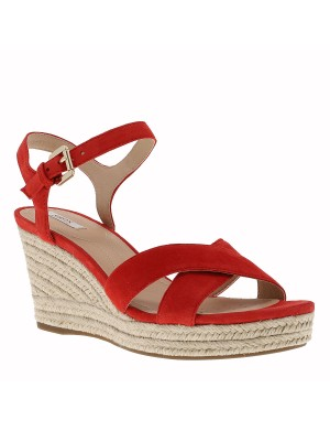Chaussures nu-pieds femme rouge