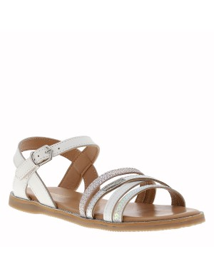 Chaussures nu-pieds fille gris