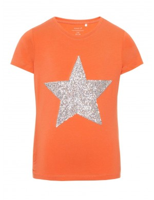 T-shirt manches courtes fille orange