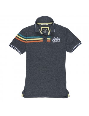 Polo manches courtes homme gris