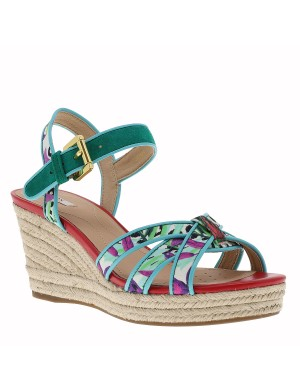 Chaussures nu-pieds femme multicolore