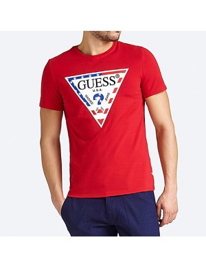 T-shirt manches courtes homme rouge