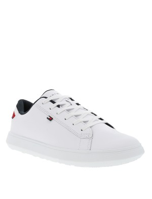 Baskets Leather Detail homme blanc