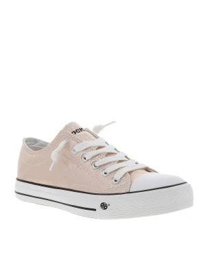 Chaussures en toile fille rose