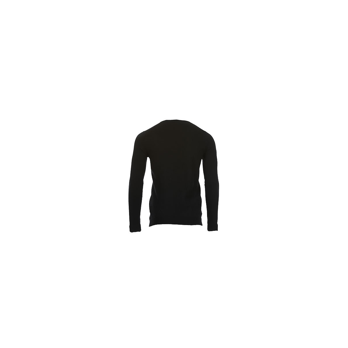 Pull col V Piko homme noir TEDDY SMITH