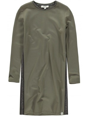 Robe manches longues fille vert