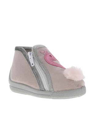 Chaussons fille beige