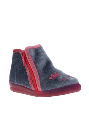 Chaussons KELCRO fille gris