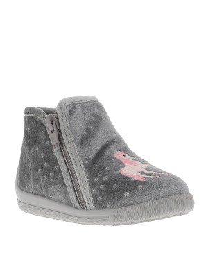 Chaussons fille gris