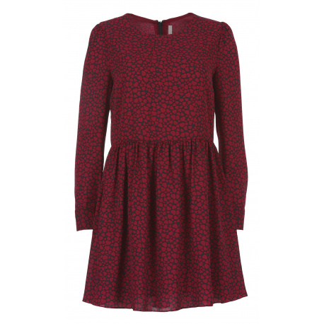 PEPE JEANS Robe manches longues femme rouge