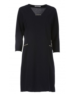 Robe Milano manches longues femme bleu