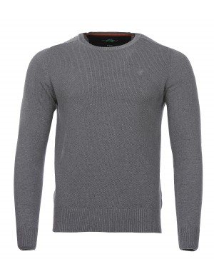 Pull col V Pampuro-Gi homme gris