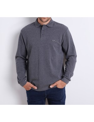 Polo homme gris