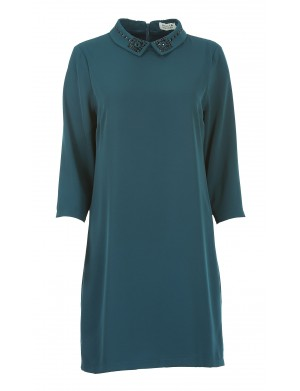 Robe manches longues femme vert
