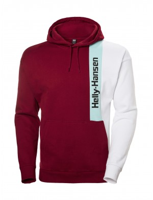Sweat à capuche  homme rouge