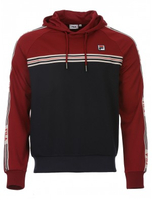 Sweat à capuche BES homme rouge