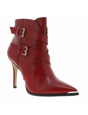 Boots femme rouge