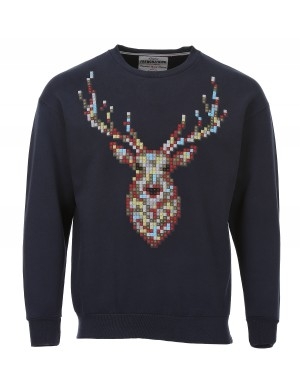 Sweat Deer homme bleu