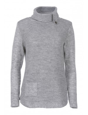 Pull femme gris