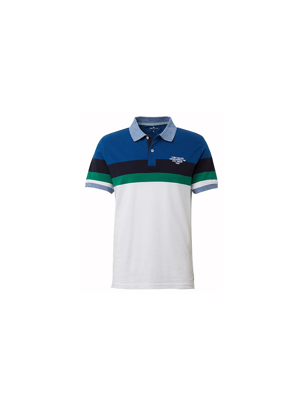 Polo manches courtes homme blanc TOM TAILOR