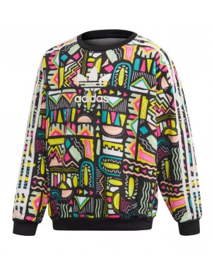 Sweat ras de cou fille multicolore