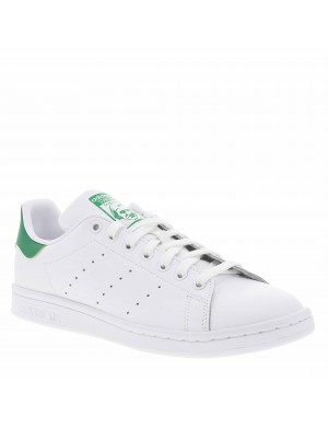Baskets basses mixte STAN SMITH cuir blanc