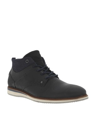 Derbies montantes cuir