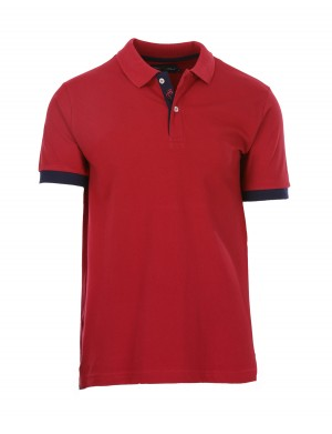 Polo Alix manches courtes homme rouge