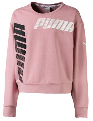 Sweat ras de cou fille rose