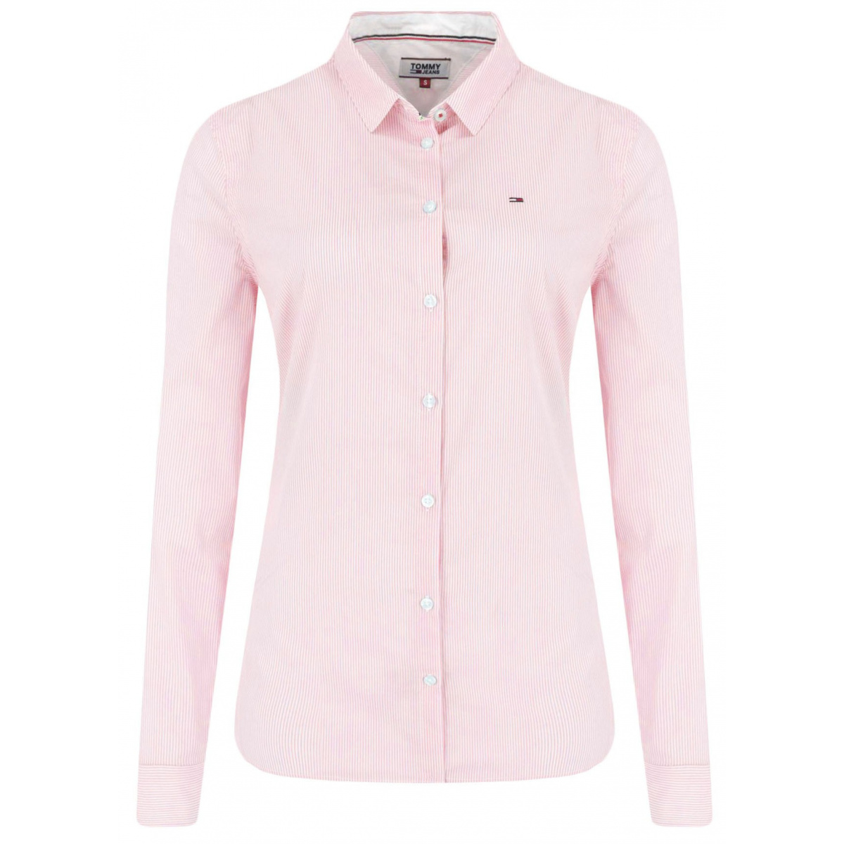 Chemisier manches longues femme rose TOMMY JEANS