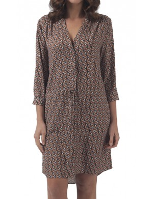 Robe manches longues femme beige