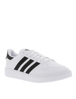 Baskets basses mixtes TEAM COURT cuir blanc