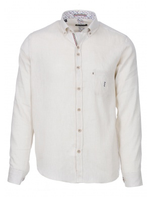 Chemise manches longues lin regular JATIVA homme